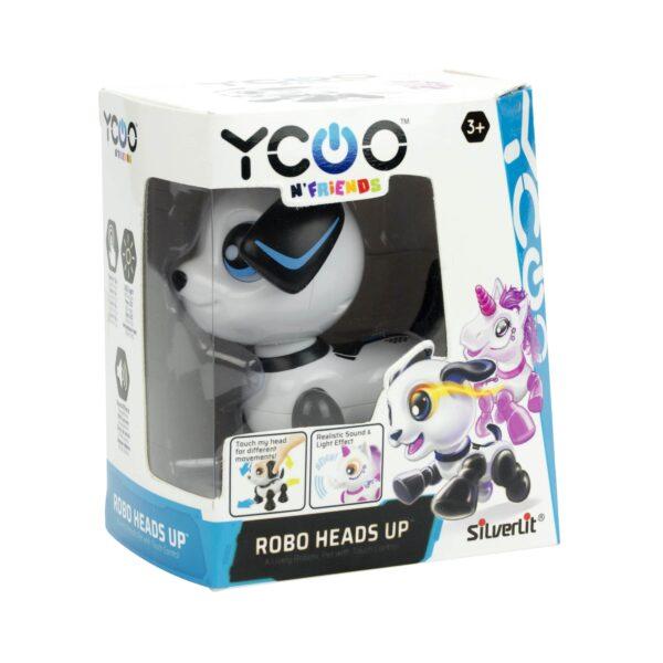 robothund Silverlit Robo Heads up förpackning
