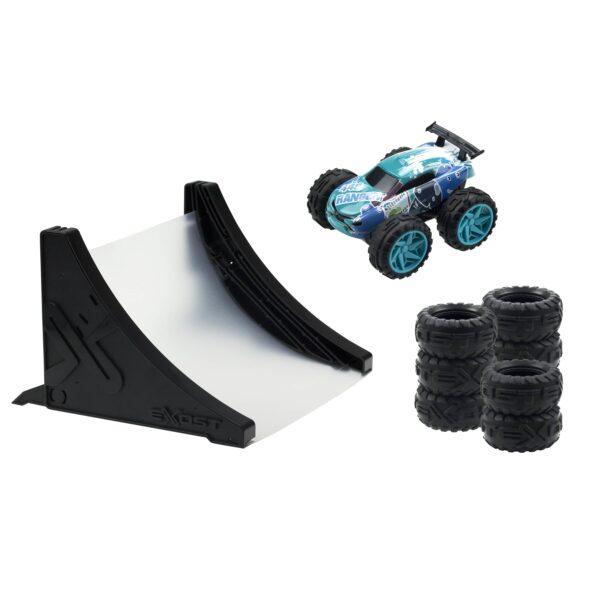 Exost Jump Stunt Pack blå bil med hinder